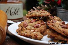 Cookies mit datteln, Maronen und gebrannten Mandeln