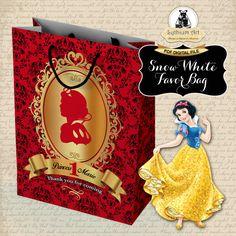 Snow White Favor Bag  Snow White Party  Custom por LythiumArt