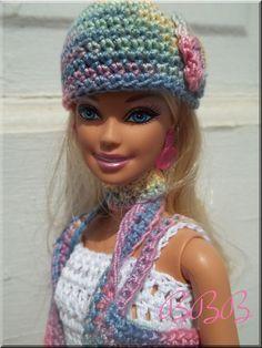 Crochet Barbie Accessories Fashion Doll by BarbieBoutiqueBasics