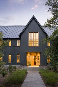 Modern Home Exterior Siding modern cedar horizontal wood siding home with dark shingles and