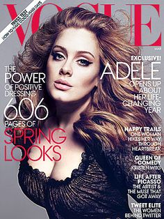 Adele, looking amazing on the cover of Vogue