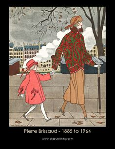 Gorgeous art with a glimpse also of children's wear.1920s Vintage Clothes