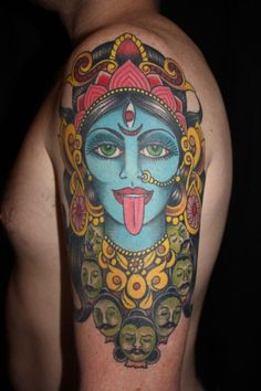 Neo traditional Kali tattoo by Lucy Prior.