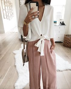 Wear these pants with a plain white tee & flip flops...or dress them up like I did here with a flowy blouse. (FYI I sized up in this top.  And these pants restocked in a few sizes!). Follow me on the LIKEtoKNOW.it app to get the product details for this look and others http://liketk.it/2waq6 @liketoknow.it #liketkit #LTKstyletip #LTKunder100 #LTKunder50 #LTKitbag