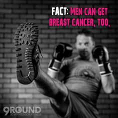 FACT: Men can get breast cancer, too. Fat cells in the body convert male hormones (androgens) into female hormones (estrogen). This means that obese men have higher levels of estrogen in their bodies and are, therefore, at a higher risk of breast cancer.   Regular exercise and maintaining a healthy weight may help reduce the risk of breast cancer, as well as that of many other diseases and cancers. (source: #AmericanCancerSociety)  #BreastCancerAwarenessMonth