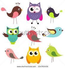 cute birds cartoon - Google Search