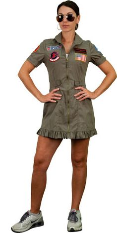 Disfraz chica Top Gun