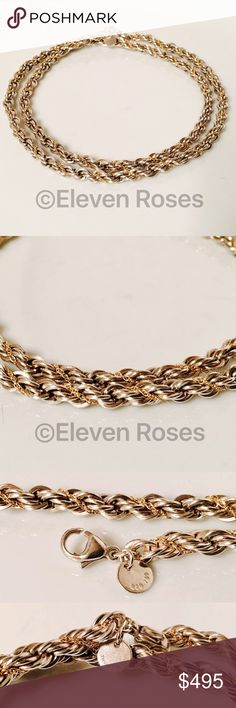 """Tiffany & Co. Sterling & 18k 24"""" 5mm Rope Chain Vintage Tiffany & Co. Sterling & 18k Rope Chain - 925 Sterling Silver & 750 18k Gold - Chain Measures Approx 24"""" Long X 5mm Wide - Weighs Approx 48 Grams - Secure Lobster Claw Clasp / Closure Tiffany & Co. Jewelry Necklaces"""