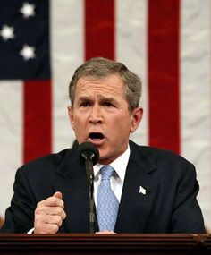 """JANUARY 29, 2002      BUSH DELIVERS """"AXIS OF EVIL"""" ADDRESS      In his State of the Union address today, President George W. Bush denounces countries suspected of harboring terrorists and developing weapons of mass destruction.      The President vowed to fight terrorism & do whatever is necessary to ensure national security."""