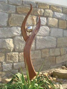 Tolle Rostwerk A. sculpture metal ideas Tolle Rostwerk A. Steel Sculpture, Sculpture Art, Garden Sculpture, Metal Garden Art, Glass Garden, Metal Tree, Hand Art, Driftwood Art, Outdoor Art