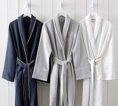 Hotel Piped Trim Robe #potterybarn