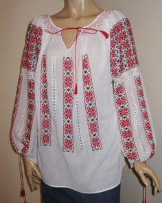Van Helsing Anna Valerious Peasant Blouse Romanian Peasant Embroidered Peasant Blouse