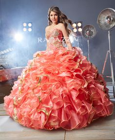 Strapless Ruffled Quinceanera Dress by Ragazza Fashion Style B65-365