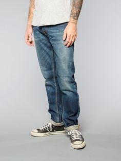 Steady Eddie Whistle Blue - Nudie Jeans Co Online Shop