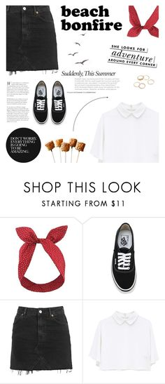 """""""Beach Bonfire"""" by carolinafrancesca ❤ liked on Polyvore featuring Lulu in the Sky, Vans, Topshop, Kate Spade, Summer and beachbonfire"""
