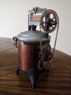 Steampunk Wringer Dinger Washer by Debra A. Morin