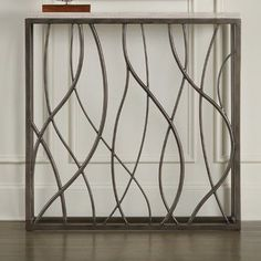 Tall and stately, this Hooker Furniture Thin Metal Console Table makes a style statement. Supported by an intricately curved metal frame, it. Hooker Furniture, Home Decor Furniture, Furniture Design, Table Furniture, Online Furniture, Gate Design, Door Design, Window Grill Design Modern, Stair Railing Design