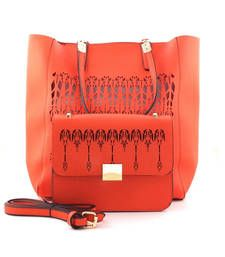 Buy Orange fashion tote bag tote-bag online