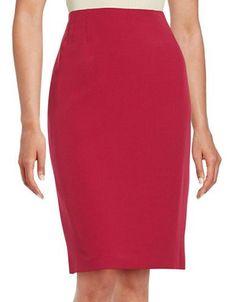 Nipon Boutique Crepe Pencil Skirt Women's Geranium 12