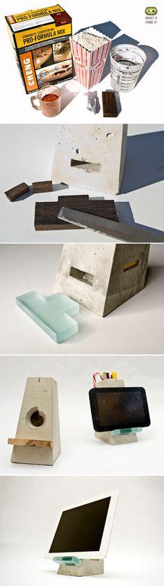 DIY Concrete iPad Stand