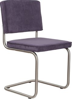 Ridge rib brushed frame purple chair