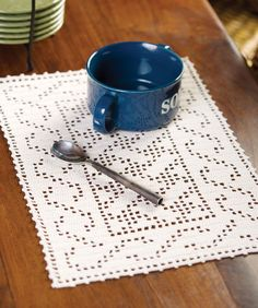 Celtic Placemat -- nice thread pattern, could be easily expanded into a table runner.