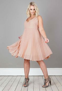 Anna Scholz - Georgette Pleat Dress