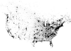 2010 Census Map of Every Person In The U.S. and Canada. There aren't any state lines drawn on, click through to an interactive version to see if you can find yourself!