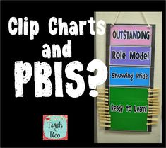 Love this! Cut off the bottom part of your clip chart to be more PBIS friendly! Recognizing students for outstanding behavior!