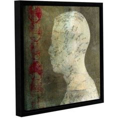 ArtWall Elena Ray Acupuncture Gallery-Wrapped Floater-Framed Canvas, Size: 36 x 36, Red