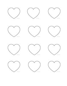 Royal Icing Templates, Royal Icing Transfers, Shape Worksheets For Preschool, Shapes Worksheets, Free Worksheets, Heart Shapes Template, Shape Templates, Cake Decorating Tips, Cookie Decorating