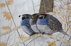 These guys are adorable!  Winter Quail by ArtsNTreasuredGifts on Etsy, $35.00
