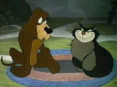 Lucifer the cat and Bruno the dog from Cinderella