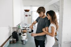 Making coffee together to start the day. // In Home Portraits // Phil Chester Photography Ideas At Home, Lifestyle Photography, Couple Photography, Creative Photography, Couple Posing, Couple Shoot, Cute Couples Goals, Couple Goals, Friends With Benefits