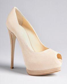 zanotti heels | Giuseppe Zanotti Peep Toe Platform Pumps Sharon High Heel in Beige ...