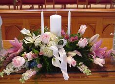 Shannon's Custom Florals Church Wedding Decorations (45)