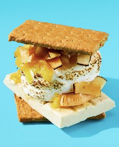 Easy s'mores recipe with white chocolate, pineapple jam, and toasted coconut | More recipes on www.blog.HelloFresh.com Pineapple Jam, Hello Fresh Recipes, Easy S, Toasted Coconut, Hello Summer, Some Recipe, The Fresh, White Chocolate, Cooking Tips