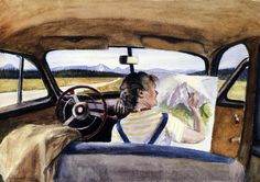 edward hopper(1882-1967), jo in wyoming, 1946. watercolor on paper, 50.8 x 35.433 cm. private collection