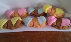 BABY SHOWER CUPCAKE TOPPER FONDANT Decoration (12 pieces)