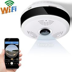 GBD IP Camera 360 Degree Panoramic Fisheye 3D VR Wireless Wifi 2.4GHZ Security Camera Outdoor Super Wide Angle Support IR Night Motion Detection Keep Home Safe (White) http://ift.tt/2xNTRMK