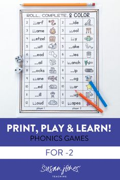 Tons of print and play phonics games at your fingertips! These phonics activities and worksheets are perfect for partners to play in a center and practice short vowels (CVC words), long vowels (CVCe and vowel teams), digraphs, consonant blends, and r-controlled vowels with these fun games! Download the preview to check it out!