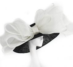 White and Black Wedding and Ascot Hat