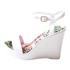 PARIS WEDGE, White – Boutique Online Fashion Clothing Store   Marshmellow