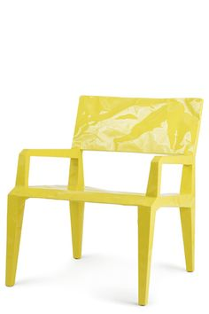 """EASY CHAIR """"MISTER BUGATTI"""" 2006   2/10 MM LAMINATED STEEL SHEET METAL. CRUMPLED AND TIN WELDED. DUAL-COMPONENT PU FOAM FILLING. LACQUER.  H : 70 CM W : 60 CM D : 62,5 CM 6460 G  CAPPELLINI, ITALY."""