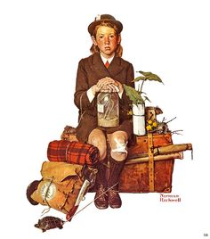 1940... Returning From Camp -by Norman Rockwell