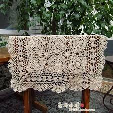 Resultado de imagem para toalha de mesa de croche quadrada passo a passo
