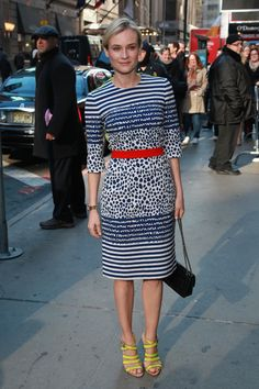 We love Diane Kruger's printed Preen dress for her appearance on Good Morning America today!