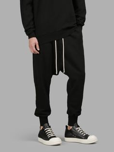 RICK OWENS DRKSHDW Rick Owens Drk Shdw Men'S Black Sweatpants. #rickowensdrkshdw #cloth #trousers