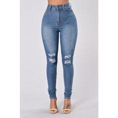 Stay Hustlin' Jeans Medium Wash ($20) ❤ liked on Polyvore featuring jeans, blue jeans and medium wash jeans