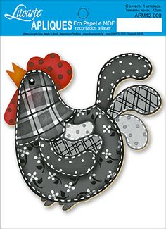 Quilt Block Patterns, Applique Patterns, Applique Designs, Quilt Blocks, Chicken Crafts, Chicken Art, Fabric Crafts, Sewing Crafts, Sewing Projects